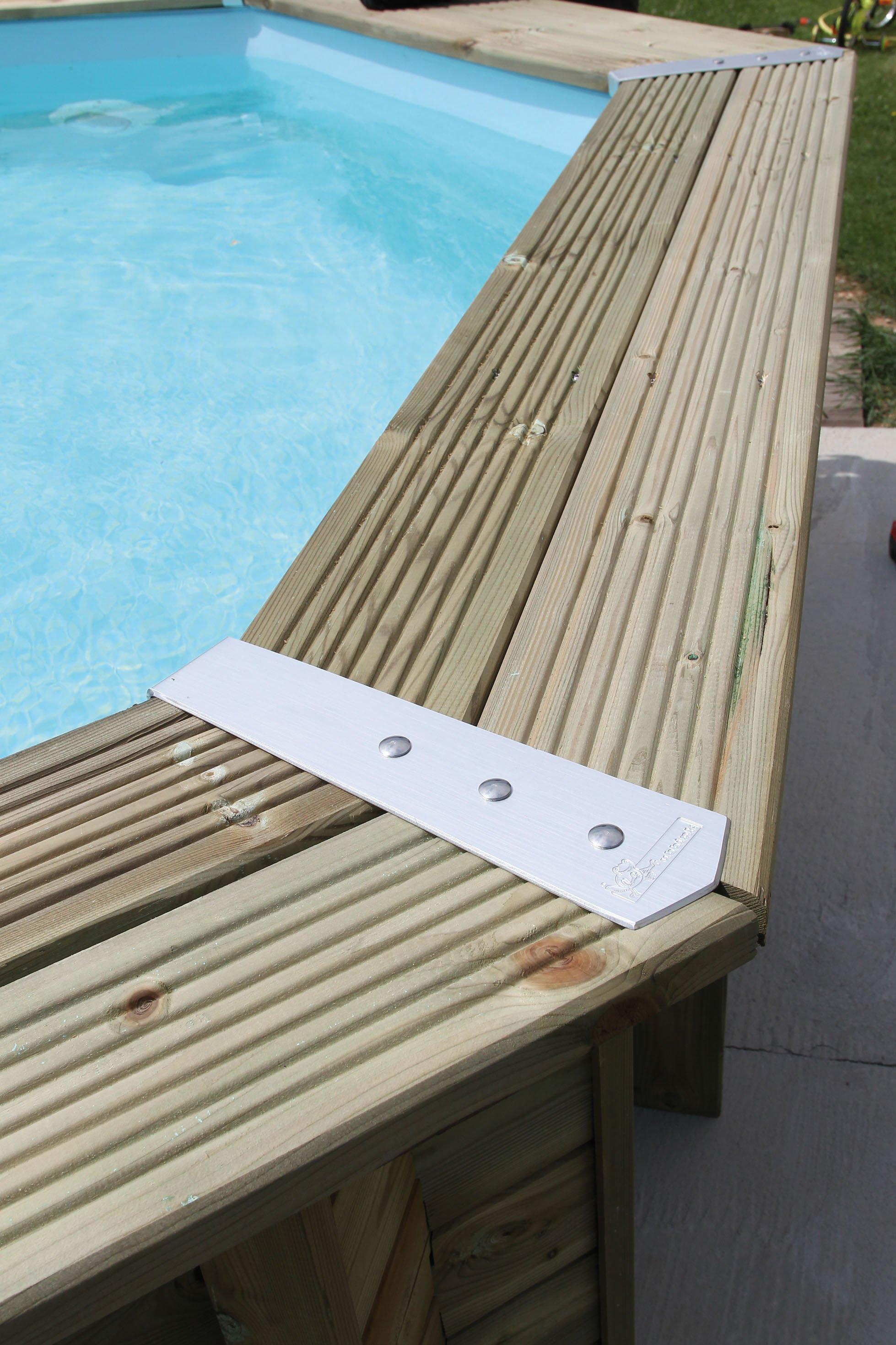Piscine bois ocea 610x400x130 liner bleu piscine hors for Piscine hors sol bois destockage